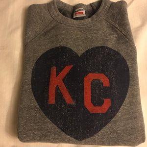 Charlie Hustle KC Sweatshirt -Grey/Navy/Red Sz.XS